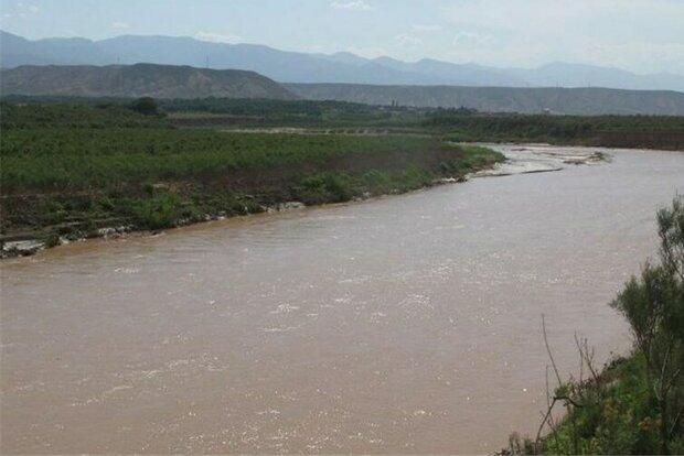 افزایش حجم آب ورودی رودخانه قزل اوزن در شهرستان ماهنشان