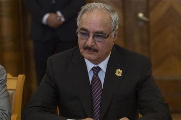 پیغام حفتر در مورد به دست دریافت کنترل پایتخت لیبی
