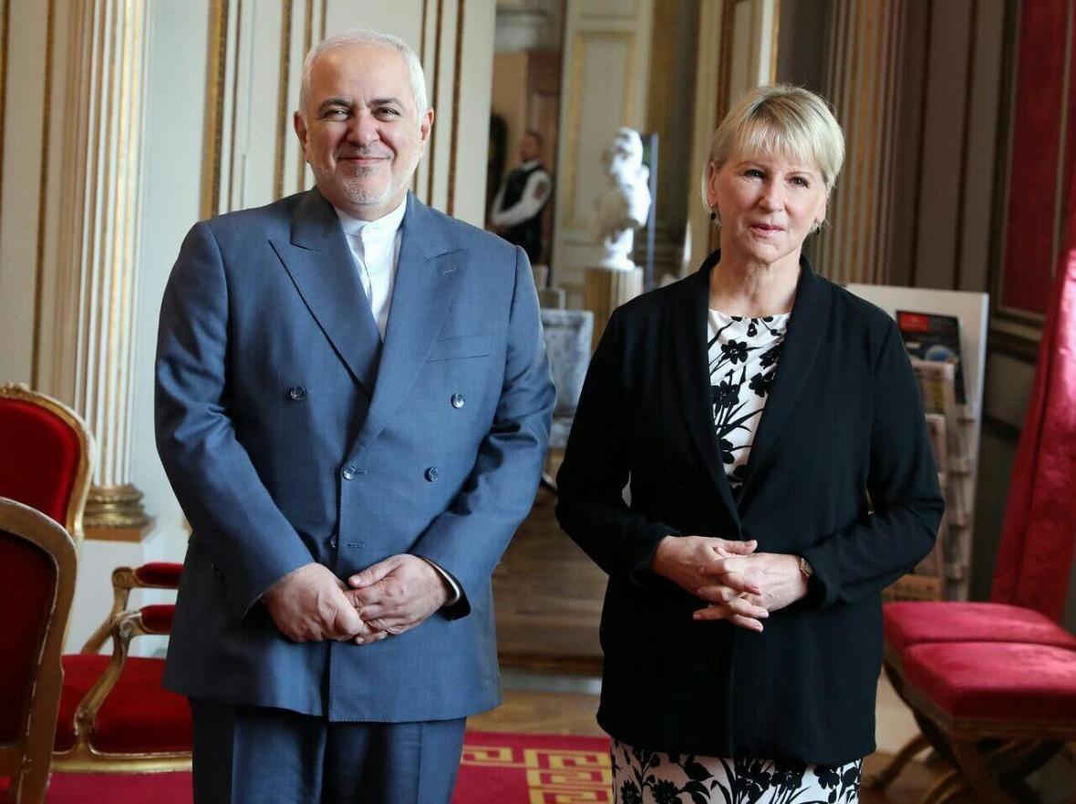 ظریف با همتای سوئدی خود دیدار کرد