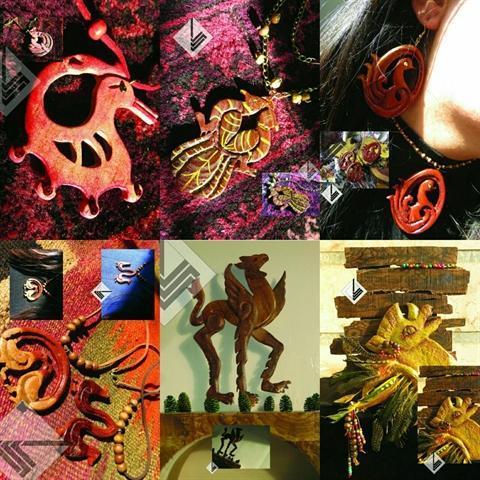 برگزاری نمایشگاه زیور آلات و تزئینات چوبی، با الهام از موتیف ها جانوری و گیاهی ساسانی