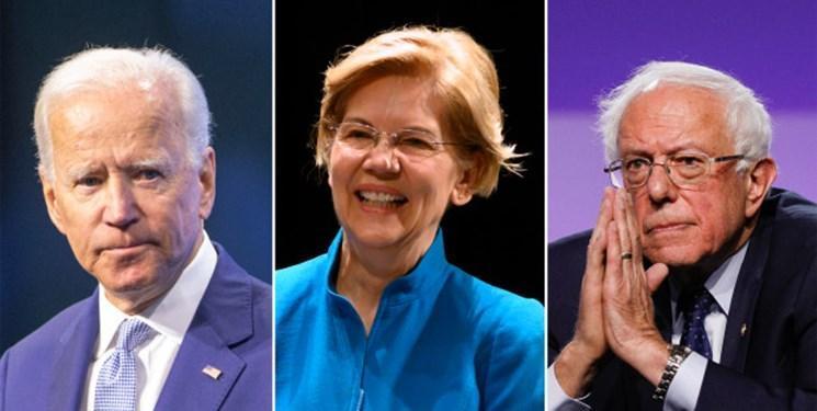 نظرسنجی جدید، جو بایدن پیشتاز، الیزابت وارن و برنی سندرز در تعقیب وی