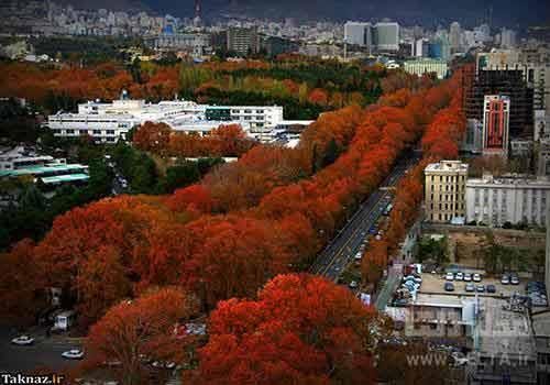 خیابان ولیعصر تهران ؛ خیابان خوب چنارها