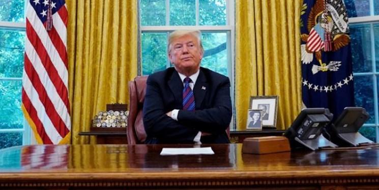 ترامپ برخلاف ادعای کاخ سفید در اتاق بیضی حضور یافته است
